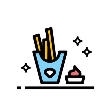 potato stick snack vector icon design