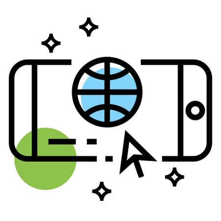 smart phone browser vector icon design illustration
