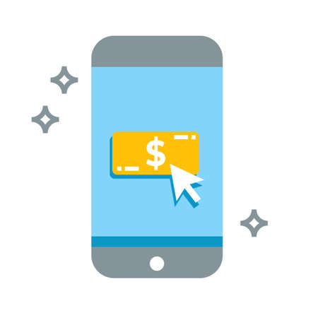 smart phone money bill cash vector icon