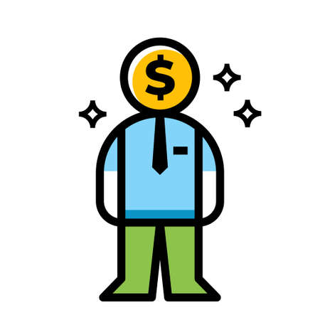 business man dollar vector icon design Ilustração