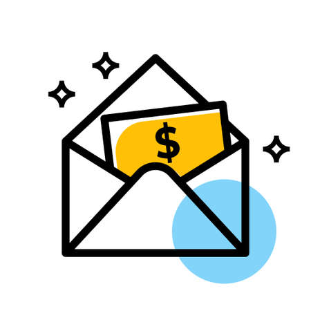 money cash and wallet vector icon Ilustração