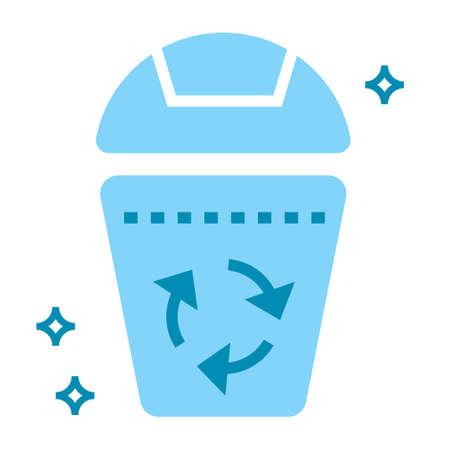 Recycle bin icon vector illustration