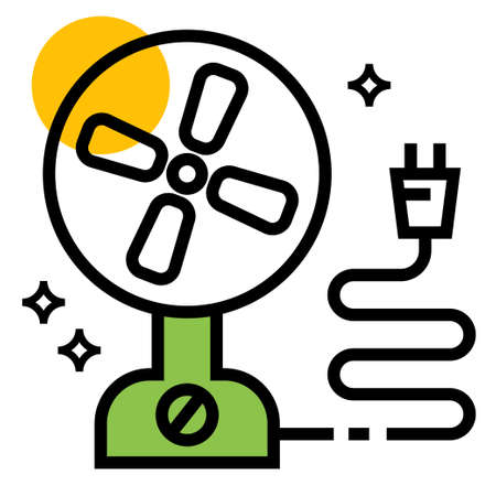 electric fan icon design illustration