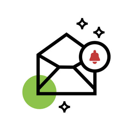 mobile notification messaging icon vector design illustration