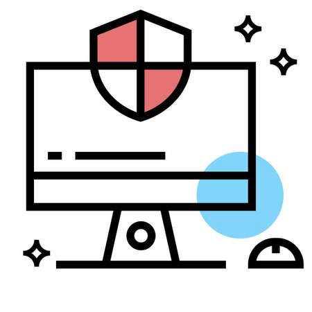 Computer Protection icon vector design illustration Ilustração