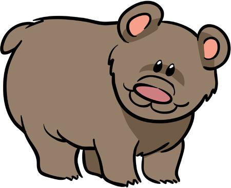 ourson: cute grizzli illustration vectorielle