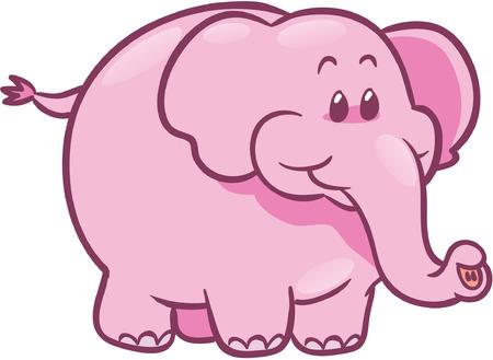cute pink elephant vector illustration Illustration