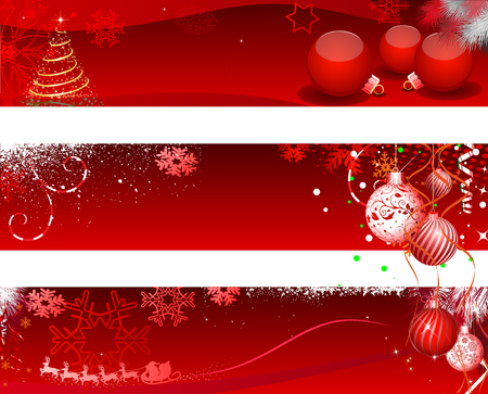 Christmas Design Set - Illustration, Web Banner, Banner - Sign, Holiday - Event, Christmas, Christmas Decoration, Christmas Ornament, Frame Stok Fotoğraf - 68629831