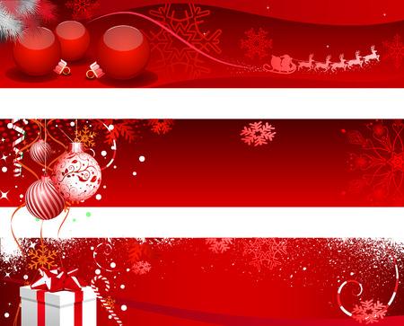 newyear: Christmas Design Set - Illustration, Web Banner, Banner - Sign, Holiday - Event, Christmas, Christmas Decoration, Christmas Ornament, Frame Illustration