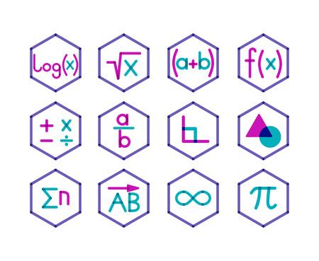 トレンディな透明なスタイル。数学の別の方向。  イラスト・ベクター素材