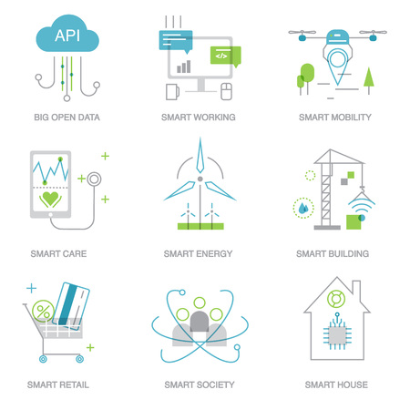 Future technology symbols for  template, web