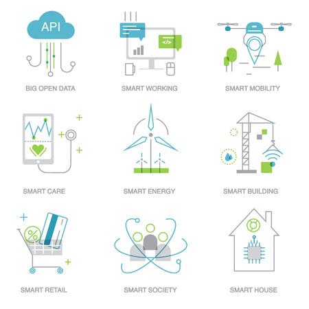 Zukunftstechnologie Symbole für eine Vorlage, Web