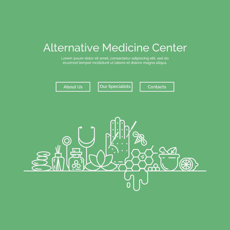 Modern linear style. Holistic center, naturopathic medicine, homeopathy, acupuncture. For web site, print design, business card.