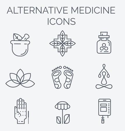 IV La vitamina terapia, Antienvejecimiento, bienestar, Ayurveda, la medicina china. centro holístico. Ilustración de vector