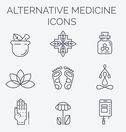 chinese medicine: IV Vitamin Therapy, Anti-Aging, Wellness, Ayurveda, Chinese Medicine. Holistic centre. Illustration