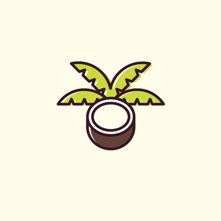 Lucuma logo in linear and flat style.
