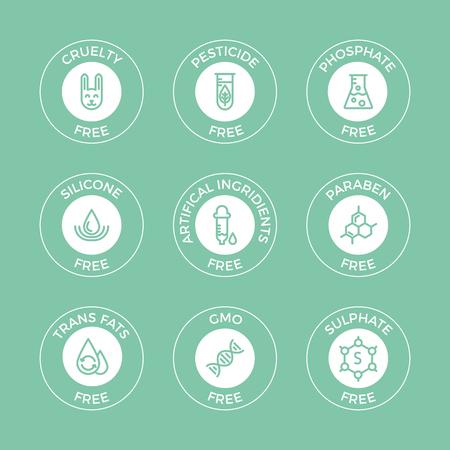 Set of eco badges. Vector Illustration