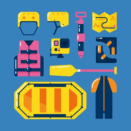 Rafting pictogrammen instellen.
