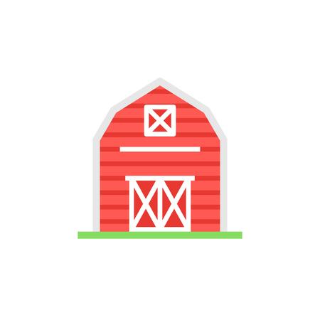 Rode schuur pictogram illustartion.