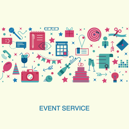 Platte ontwerp evenement marketingconcept.