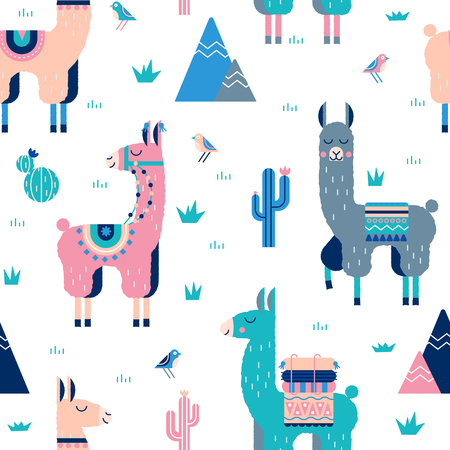 Perfect for fabric, posters, stickers, greeting cards, notebooks and other childish accessories. Stock Illustratie
