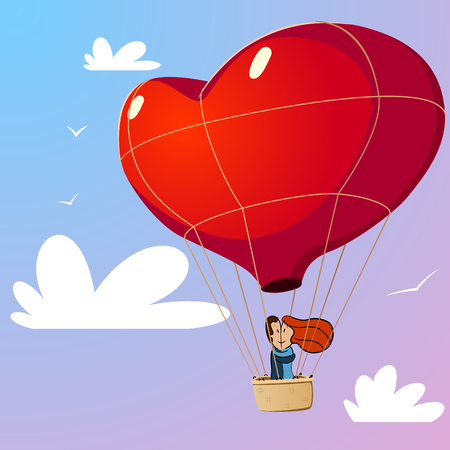 Couple with air balloon