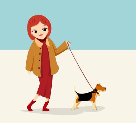 dog: Girl with dog