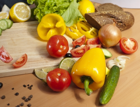 peppers surrounded by many fresh vegetables Stock Photo - 16500725