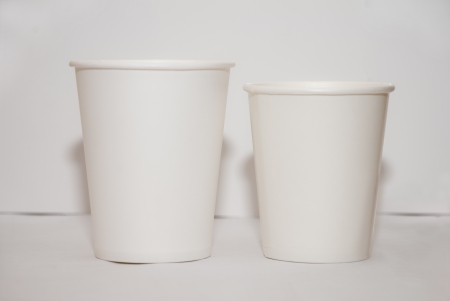 beige  paper cup for coffe or ice cream Stock Photo - 16500534
