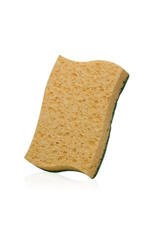 celulosa: naranja esponja de celulosa con abrasivo para la limpieza de cocina