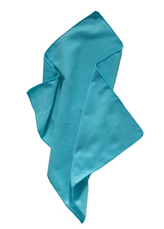 Cyan napkin Stock Photo - 16572567