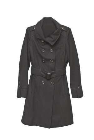 two slided cashmere coat with buttons