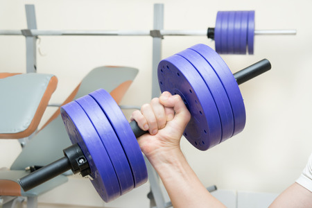 dumbbell biceps sport training at home