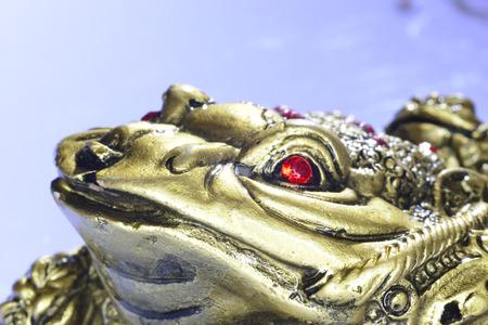 Feng Shui golden money toad character figurine