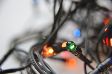 diode: diode with green light on black wire