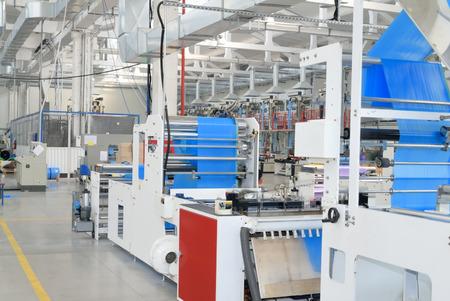 conveyor garbage bag production at fabric