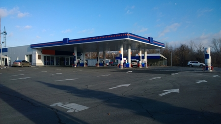 fillup: petrol auto station (fuel, gas, energy) Stock Photo