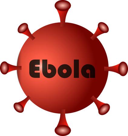 pain scale: Danger red virus ebola illustration Illustration