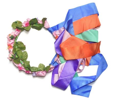 circlet: colore circlet di fiori con lunghi nastri
