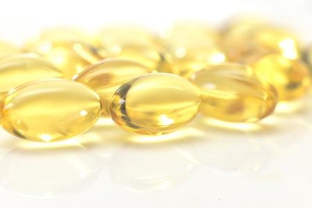 zoomed: illuminated zoomed yellow transparent pills
