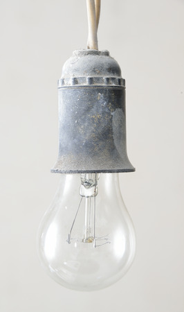 old lamp: old lamp with a cartridge  and wire
