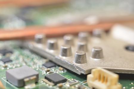 information processing system: mounting radiator on matherboard (cooling cpu)