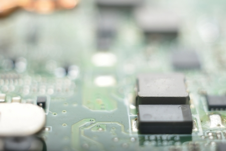 information technology: macro zoomed information technology background blur