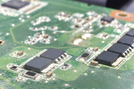 information processing system: northbridge on motherboard (memory controller hub) Stock Photo