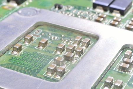 information processing system: radiator on  integrated circuit (PCB)