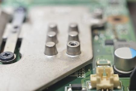planar: computer equipment (green microcircuit with radiator)