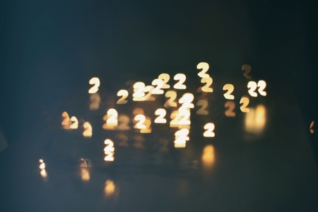 numbers abstract: digit two blur abstract background (second) Stock Photo