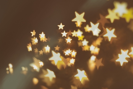 emo: yellow stars abstract blur background (emo background) Stock Photo
