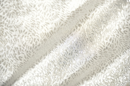 white gold: white gold background (satin fabric with folds) Stock Photo