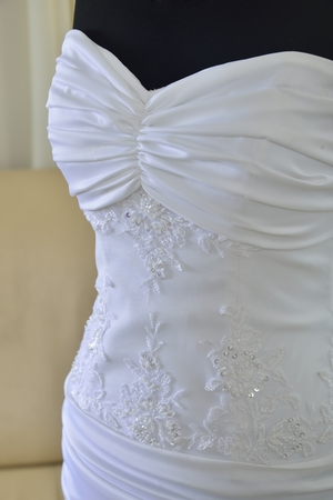 sewing wedding dresses (sewing for stores)
